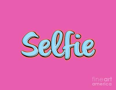 Selfie Drawing - Selfie Tee by Edward Fielding