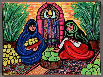 Selling Melons Memories Of Izmir Print by Susie Grossman