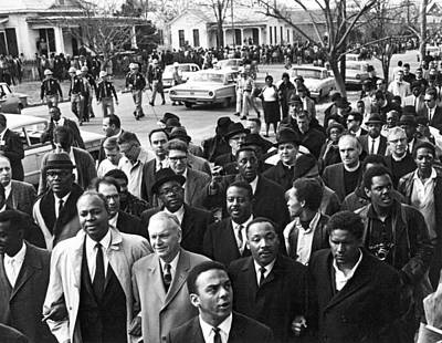 Selma To Montgomery March Print by Underwood Archives