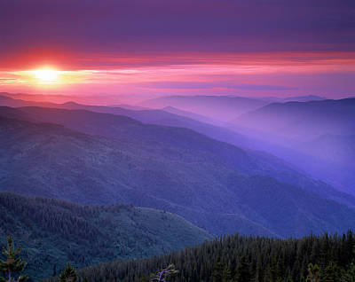 Mountain View Photograph - Selway Sunrise by Leland D Howard