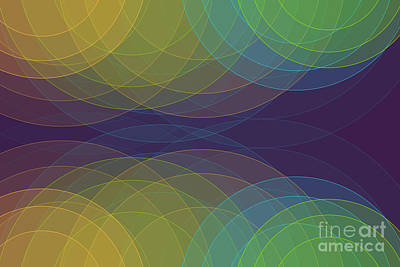 Digital Art - Semi Circle Background Horizontal by Frank Ramspott