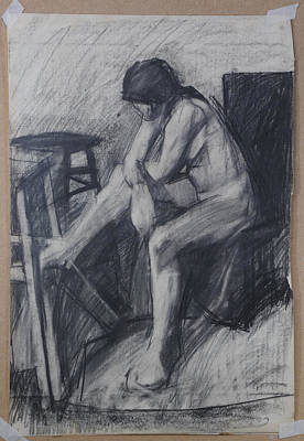 Drawing - Semi Cubist Life Drawing by Harry Robertson