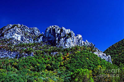 Seneca Rocks National Recreational Area Print by Thomas R Fletcher