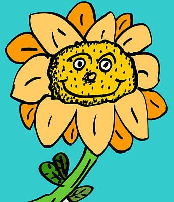 Senny The Sunflower Print by Jera Sky