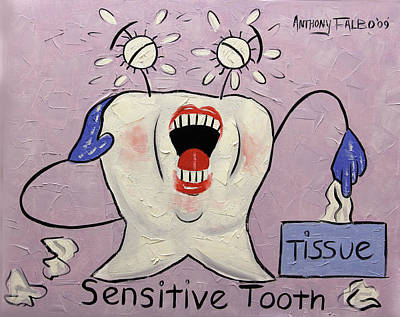 Chatter Painting - Sensitive Tooth by Anthony Falbo