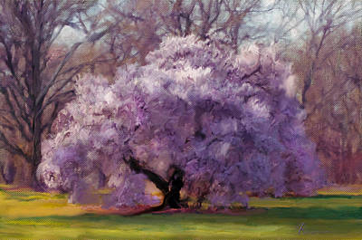 Spring Landscape Digital Art - Sensual Secrets Where Passion Blooms by Georgiana Romanovna