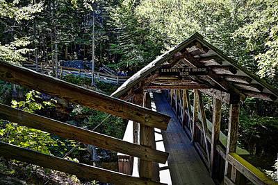 Warner Park Photograph - Sentinel Pine Covered Bridge  by Deborah Klubertanz