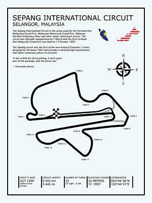 Sepang Circuit Print by Mark Rogan