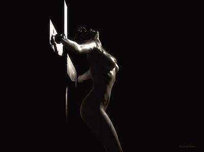 Sepia Crucifix V Print by Ramon Martinez