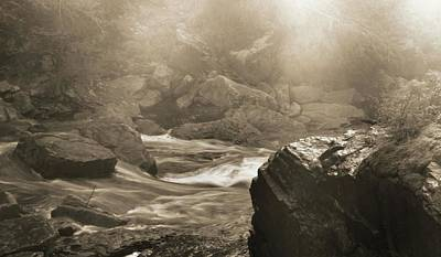 Fury Photograph - Sepia Moody River by Dan Sproul