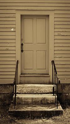 Sepia Shaker Door Print by Stephen Stookey