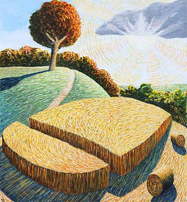 Cornfield Mixed Media - September Corn by Adrian Jones