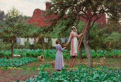 Lettuce Painting - September by Edmund Blair Leighton