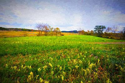 Digital Painting - September Landscape by Lilia D