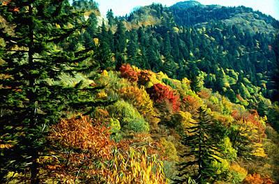 September Mountainside Print by Kevin  Sherf