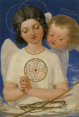 Seraphim Angel Painting - Seraph's Watch by Celestial Images