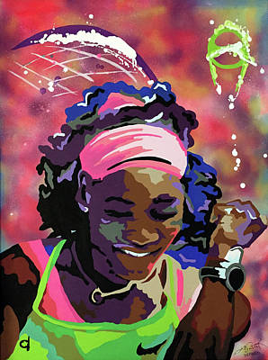 Serena Williams Painting - Serena by Chelsea VanHook