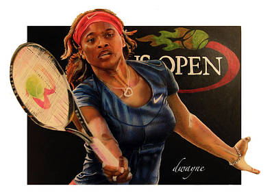 Serena Williams Painting - Serena by Dwayne Lester