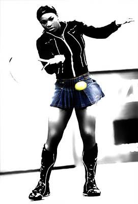 Serena Williams Mixed Media - Serena Williams 03b by Brian Reaves