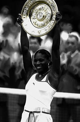 Serena Williams Mixed Media - Serena Williams 2003 Victory by Brian Reaves
