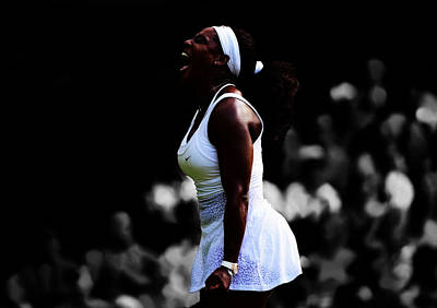 Serena Williams 6c Print by Brian Reaves