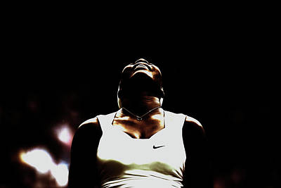 Serena Williams Mixed Media - Serena Williams But First You Must Believe by Brian Reaves