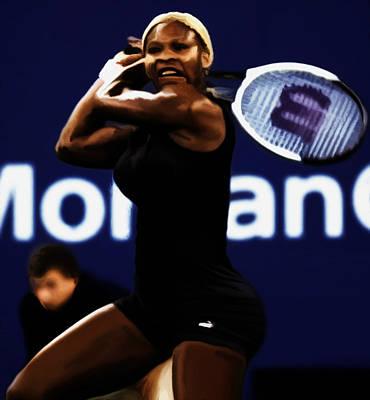 Venus Williams Mixed Media - Serena Williams Catsuit 03b by Brian Reaves