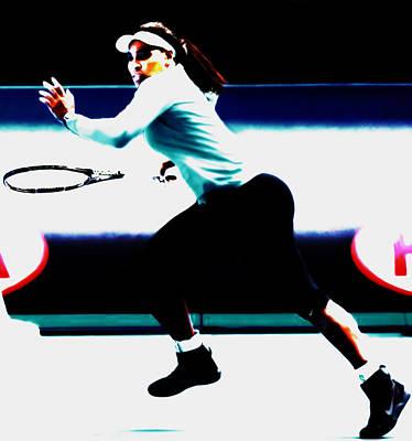 Venus Williams Mixed Media - Serena Williams Hot Pursuit by Brian Reaves