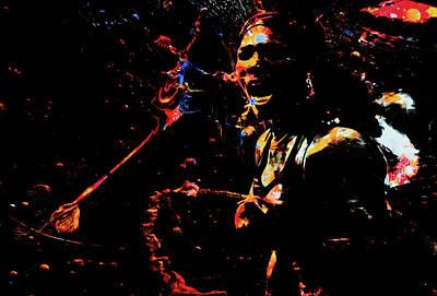 Venus Williams Mixed Media - Serena Williams Color Splash 1a by Brian Reaves