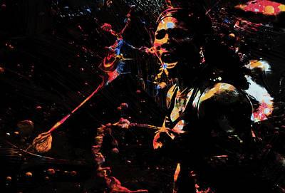 Serena Williams Mixed Media - Serena Williams Color Splash by Brian Reaves