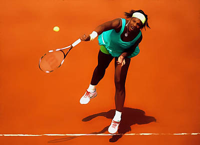 Serena Williams Match Point 2c Print by Brian Reaves