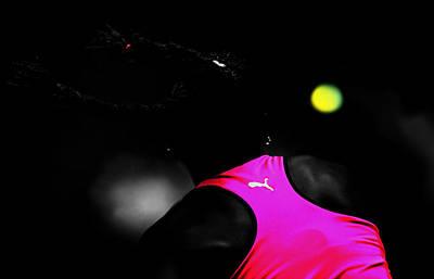 Serena Williams Mixed Media - Serena Williams Return 2c by Brian Reaves