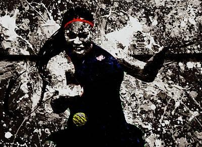 Australian Open Mixed Media - Serena Williams S4e by Brian Reaves