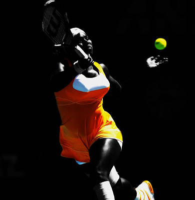Serena Williams Mixed Media - Serena Williams Stay On It by Brian Reaves