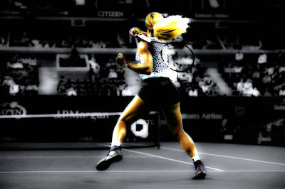 Serena Williams Digital Art - Serena Williams Taking Over by Brian Reaves