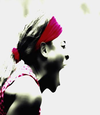 Venus Williams Mixed Media - Serena Williams Taste Of Victory by Brian Reaves