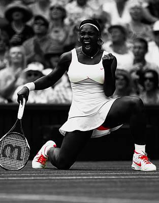 Venus Williams Mixed Media - Serena Williams Wimbledon 2010 by Brian Reaves