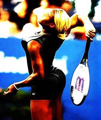 Venus Williams Mixed Media - Serena Williams Work Of Art by Brian Reaves