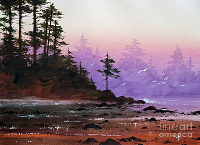 Serene Coast Sunset Print by James Williamson