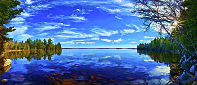 Digitally Manipulated Photograph - Serene Reflections by ABeautifulSky Photography