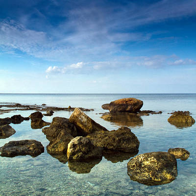 Seascape Photograph - Serene by Stelios Kleanthous