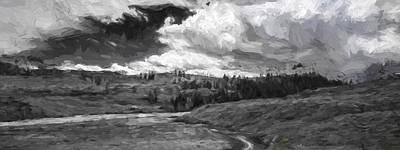Mountain Digital Art - Serene Valley II by Jon Glaser