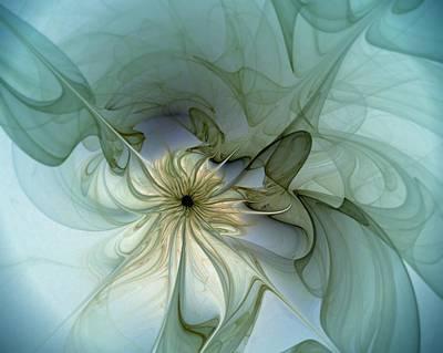 Framed Art Digital Art - Serenity by Amanda Moore