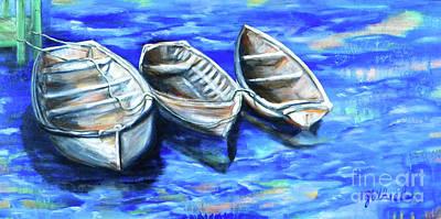 Adrift Painting - Serenity by JoAnn Wheeler
