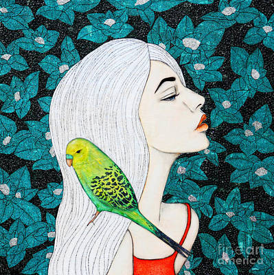 Birds Mixed Media - Serenity by Natalie Briney