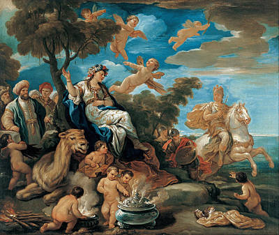 Painting - Series Of The Four Parts Of The World. Asia by Luca Giordano