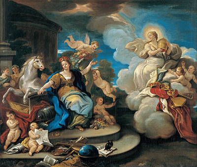 Painting - Series Of The Four Parts Of The World. Europe by Luca Giordano
