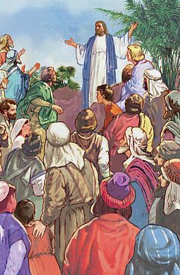 Sermon On The Mount Print by Valer Ian