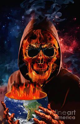 Hoodie Digital Art - Served Up Hot by Joseph Juvenal