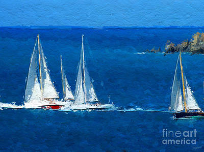 Water Digital Art - Set Sail by Anthony Fishburne